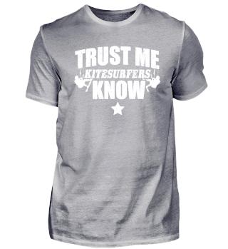 Funny Kitsurfing Shirt Trust Me
