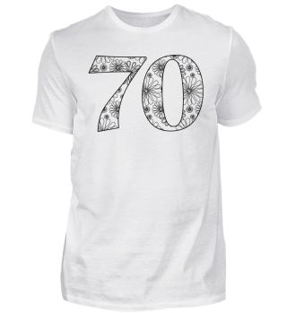 Geburtstag 70 ausmalen II - schwarz