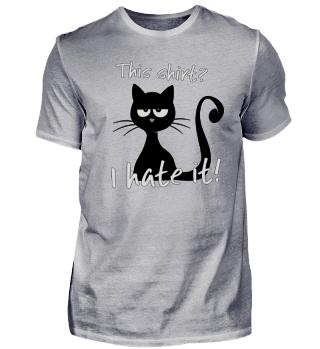 cat hates this grumpy shirt