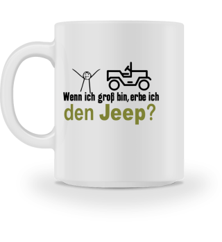 JCD Tasse JeepKids 2 weiß