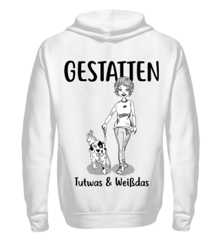 Gestatten; Tutwas-Backprint -Hoodie&Sweats., b/W