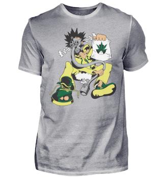 Kiffer Gasmaske Cannabis Lustig