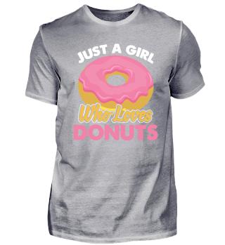 Donut Mädchen Dessert Liebhaber Geschenk
