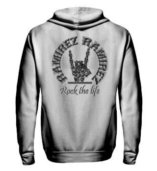 Herren Zip Hoodie Sweatshirt Rock The Life Ramirez