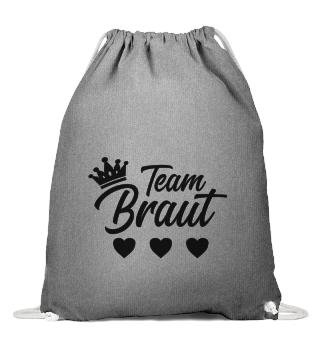 Team Braut - JGA - T-Shirt & Turnbeutel