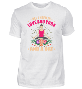 All I Need Is Love Yoga Cat Yogi Yoga