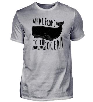 Wal Willkommen Ozean Geschenk Meer