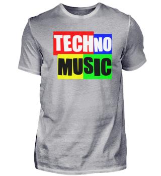 Techno-Music Schriftzug Festival Outfit T-Shirt