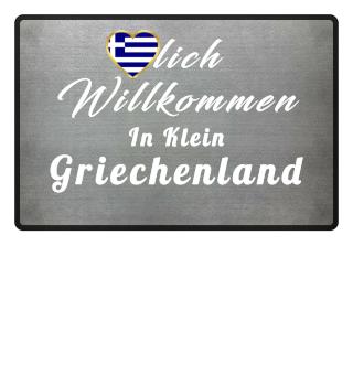 Griechenland Greece FUßMATTE Flagge Liebe Herz Heimat Stolz