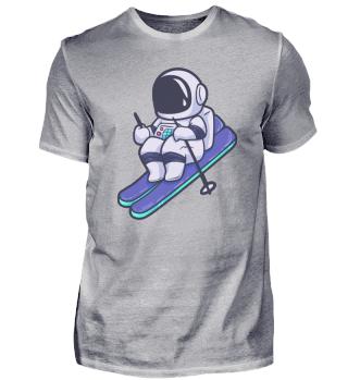 Astronaut Ski Wintersport kalt Weltraum