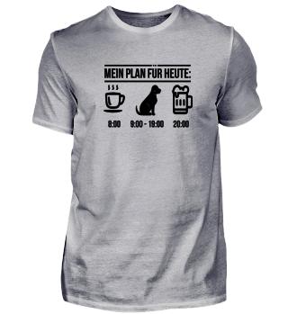 Hunde Tagesplan Shirt