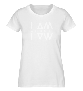 Authentic I Am Blk Ladies Organic Shirt
