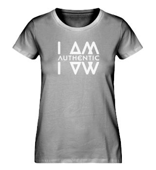 Authentic I Am Blk Ladies Organic Shirt