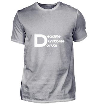 Fitness Gift Shirt Gym Donut Lover Tee B