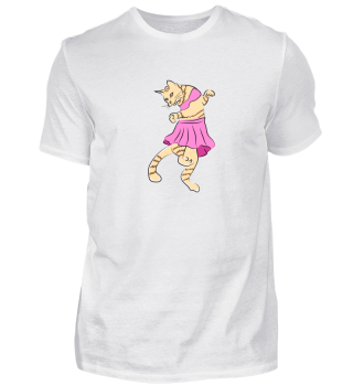 Cute Cat dances Ballet Ballerina Gift