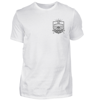 Denkedrans T-Shirt Cover/Logo, grey print