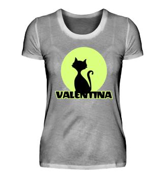 Valentina Vorname Katzenmotiv T-Shirt