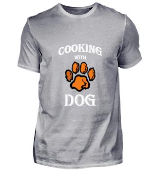 Cooking with dog. Kochen mit Hund.