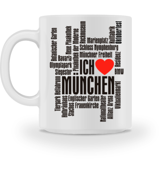 ♥ Ich Liebe MÜNCHEN - schwarz