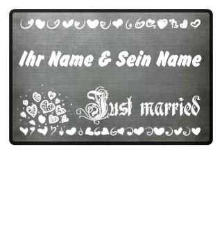 Just married (Schrift weiss)