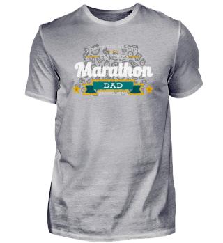 Marathon Running Dad Vater Shirt Geschenk Idee
