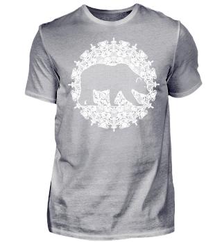 ♥ Vintage Mandala III Bear I white