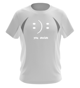you decide lettering smiley as a gift