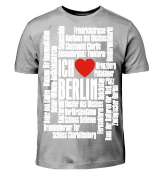 ♥ Ich Liebe BERLIN - weiss