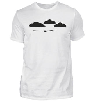 Vorrlage Wolken mit Segelflugzeug