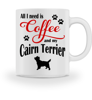 Coffee and my Cairn Terrier