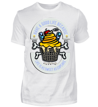 Herren Kurzarm T-Shirt Ice Cupcake Ramirez