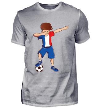 Dabbing Frankreich Fussballer T-Shirt