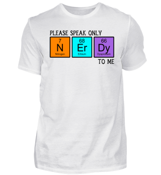 Chemical Elements - speak NERDY - black