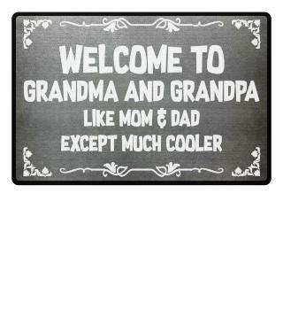 Grandma + Grandpa = cool - gift