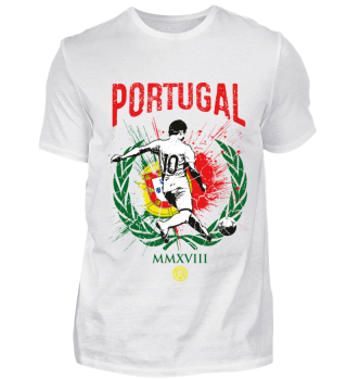PORTUGAL FAN-SHIRT Nationalfarbe Fußball