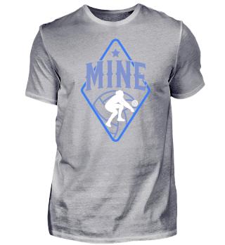 Volleyball mine blue