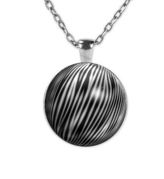 Zebramuster Kettenanhänger