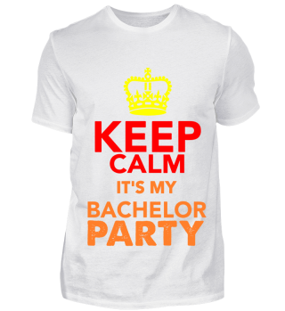 GIFT- KEEP CALM BACHELOR PARTY ORANGE