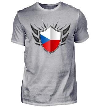 Tschechien-Czech Wappen Flagge 013