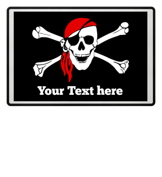 ☠ Totenkopf Pirat - Dein Text