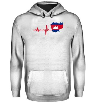 Heartbeat Cambodia flag gift