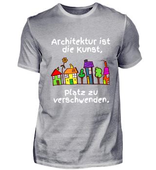 schwarzes cooles Architektur-T-Shirt