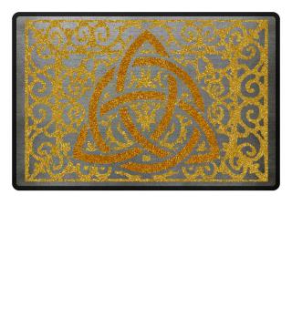 Vintage Ornament Celtic Node gold