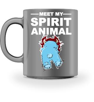 Meet Spirit Animal - monster - white