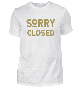 ☛ SORRY · CLOSED #1G