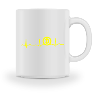 GIFT - ECG HEARTLINE BITCOIN YELLOW