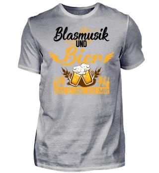 Blasmusik und Bier - Schwarz - Tshirt