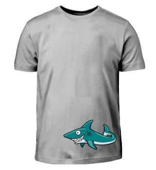 schwimmender Hai Comic Grins Geschenk