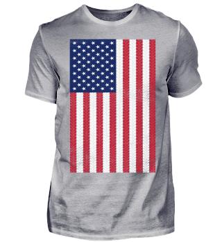 Vintage Flag ➢ US Flag Motorbike Tracks