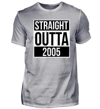 Straight Outta 2005 Funny Birthday Gift